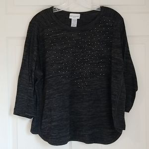 Rebecca Malone Top - Black & Gray